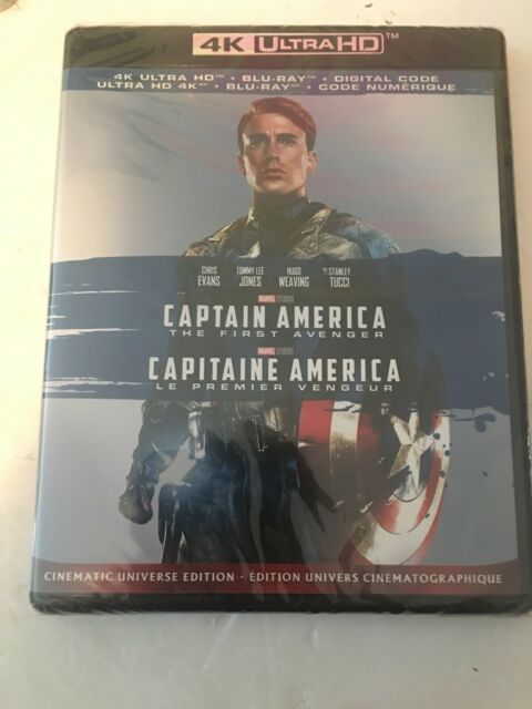Captain America The First Avenger (4K + Blu-Ray +DC) Brand New Sealed