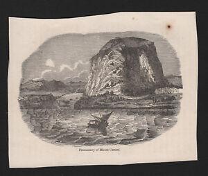 OPC-Vintage-Holy-Land-Engraving-Promontory-Mt-Carmel-6x4-5-034