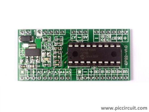 iCP22 iBoard Tiny x18 Microchip 18pin PIC16F1827 IO Development Board