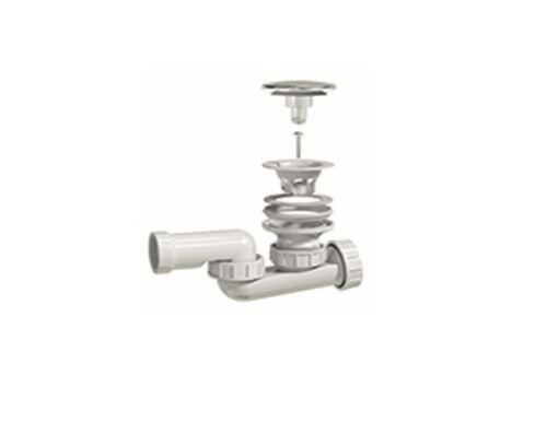 Badewanne Ablaufgarnitur Wannenablauf Abfluss Sifon Siphon Geruchsverschluss fg4