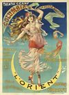 "Vintage French Theater Poster ARt CANVAS PRINT L'Orient poster 16""X12"""