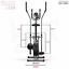 miniatura 11 - Deluxe 2-in - 1 Cross Trainer & Cyclette Allenamento di cardio fitness con sedile