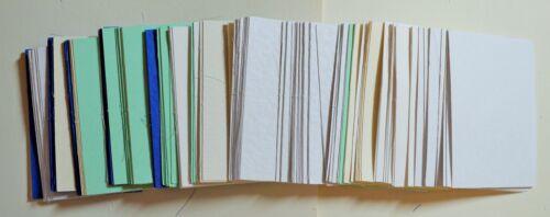 100 gramos 75x51mm o 71x50mm o 40mm tarjeta Sq formas Asst Colores Nuevo