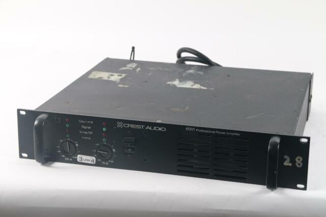 Crest Audio 6001 Professional Power Amplifier W/ Mounting Rack- Fair  Condition
