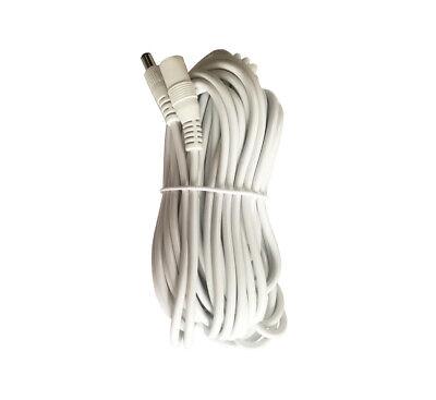 12V 60ft 2.1x5.5mm Plug DC Power Adaper Extension Cable Cord IP Camera DVR NVR