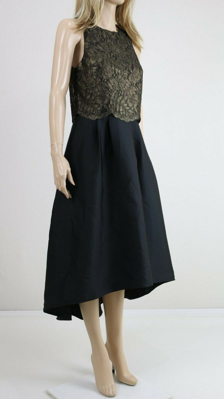11127fd2400f Oasis Donna Nero Lungo party Cocktail ricamato ricamato ricamato D oro Top  Abito Lungo Uk 10 81122c