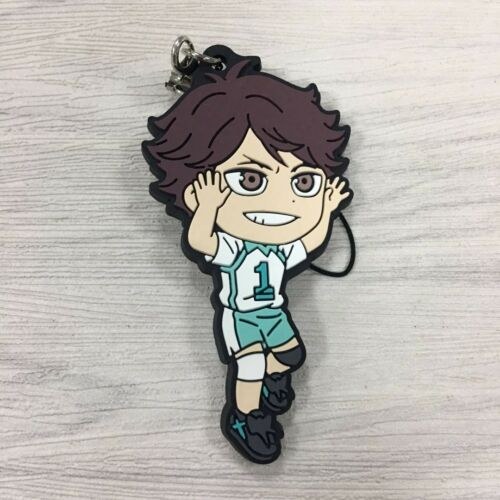 T1511 Anime haikyuu rubber Keychain Key Ring Rare cosplay straps A
