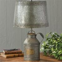 Primitive Antique Milk Can Lamp With Tin Shade By Park Designs/country Lighting