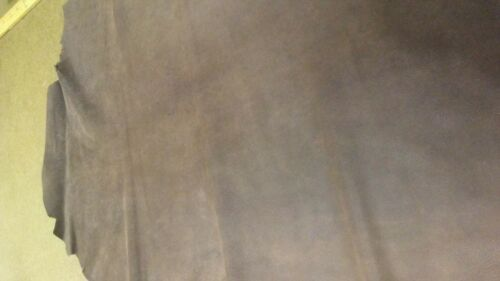 Deerskin Mottled distressed brown with nice reverse leather side 8 Sq.Ft 2 oz