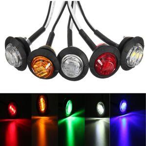 12V-CAR-TRUCK-TRAILER-ROUND-LED-BULLET-BUTTON-REAR-SIDE-MINI-MARKER-LIGHTS-LAMPS