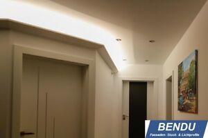 Details zu 20m LED Stuckleisten Lichtvouten indirekte Beleuchtung Decke  Wohnzimmer BENDU