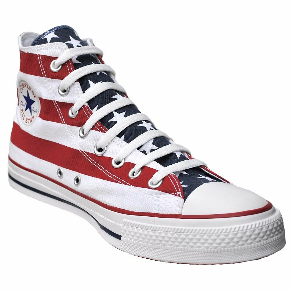 CONVERSE ALL 42 STAR CHUCKS SCHUHE EU 42 ALL UK 8,5 USA FLAG PUNK STARS & STRIPES ROT c7a9f3