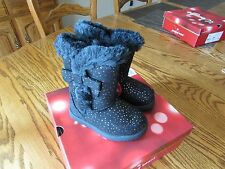 "JUMPING BEANS ""FANCY"" TODDLER GIRL BOOTS PINK BLACK GRAY SIZES 5 7 8 9 10"