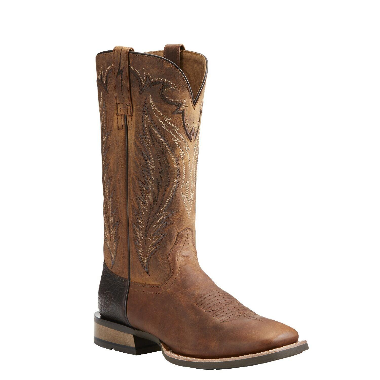 Ariat® Men's Top Hand Trusty Tan Square Toe Western botas 10021674