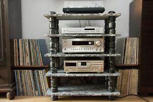 hifi rack unikat aus massivem stein f r tv audio. Black Bedroom Furniture Sets. Home Design Ideas