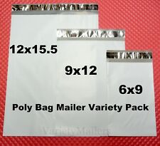 21 Poly Mailer Variety Pack Small Medium Large Sizes Shipping Envelope Bags