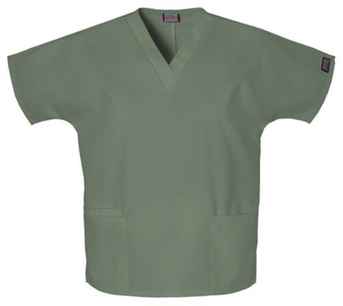 Olive Green Cherokee Scrubs Workwear Originals V Neck Top 4700 OLVW