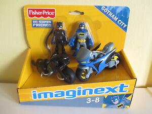 Imaginext Batman & Batcycle Catwoman Catcycle Dc Super Friends 3-8ans Nouveau