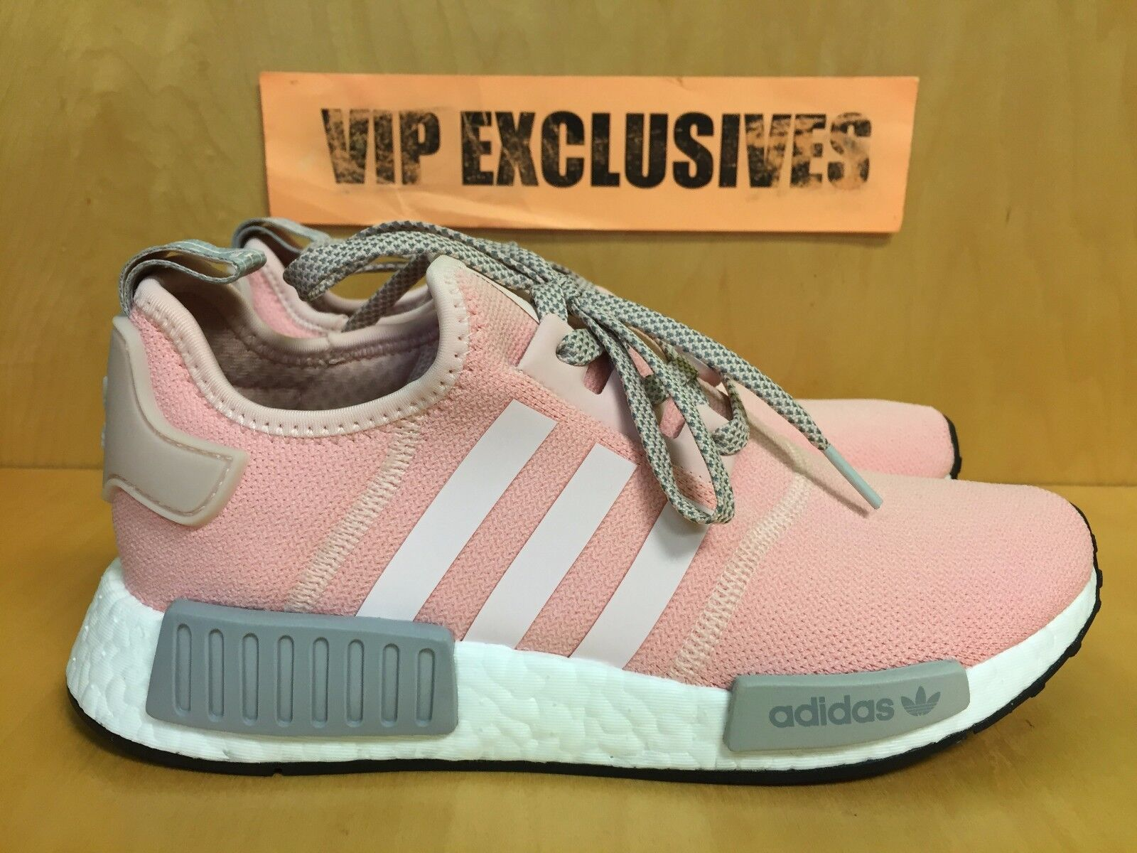 new styles c2ba2 fa34b Adidas NMD R1 W Vapour Pink Light Onix Grey Women's Nomad Runner BY3059  LIMITED