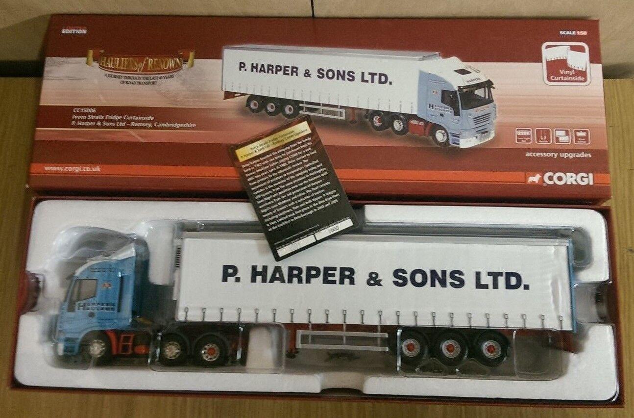 CORGI CC15006 IVECO STRALIS Frigo P Harper & SONS Ramsey Ltd Ed N. 0001 del 1000