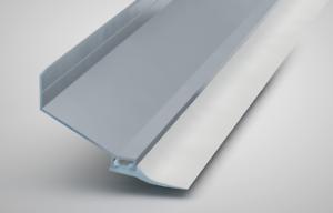 Alu-Wandanschlussprofil WA65 für Stegplatten Inkl 10,36 €//m Lippendichtung