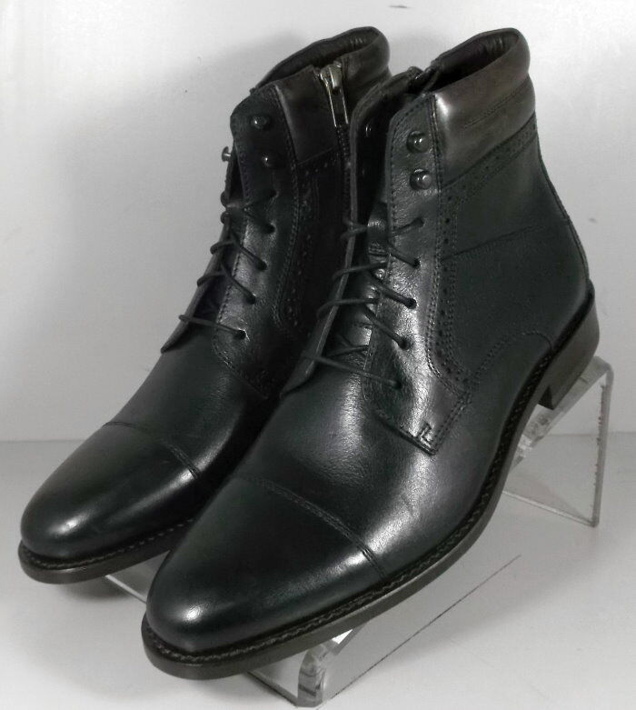 592031 FTBT50 Men's shoes Size 10 M Black Leather Boots Johnston & Murphy