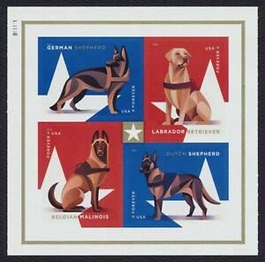 #5408a Militar Laboral Perros, Bloque W/ Placa #, Nuevo Cualquier 5=