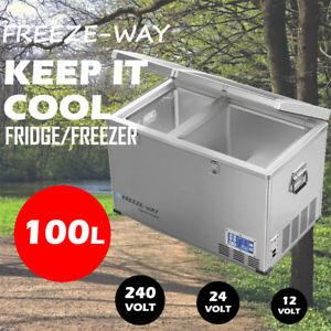 Freeze-Way 100L Car Boat Portable Fridge Freezer Home Cooler Camping Caravan