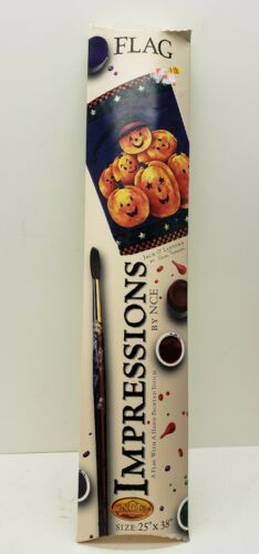 """Details about  /NCE Impressions 25/""""x38/"""" Pumpkin Patch Jack O Lantern Halloween Flag Spooky"""