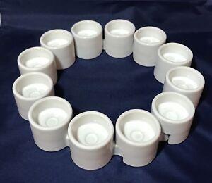 12 ikea interlocking white votive tea light ceramic candle holders xmas decor ebay - Candele decorative ikea ...