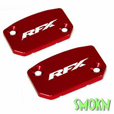 RFX Brake & Clutch Reservoir Caps Husqvarna TE 449 511 11-13 Master Cylinder Red