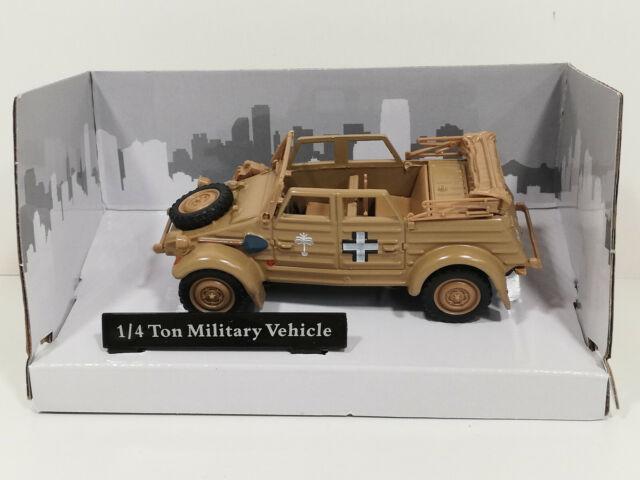 1:43 OVP Cararama Modellauto VW K/übelwagen Milit/är Type 82 Offen