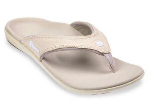 Women-039-s-Spenco-Total-Support-Orthotic-Flip-Flop-Sandals-Canvas-Birch-Sz-7