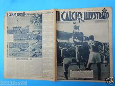 1949 il calcio illustrato n. 16 genoa triestina bologna inter glauco vanz sarosi