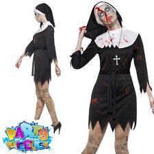 MENS ZOMBIE NUN COSTUME HOLY SISTER FANCY DRESS HEADPIECE AND COLLAR S-XXXL