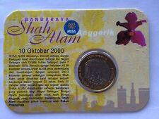 MALAYSIA BANDARAYA SHAH ALAM COIN CARD YEAR 2000