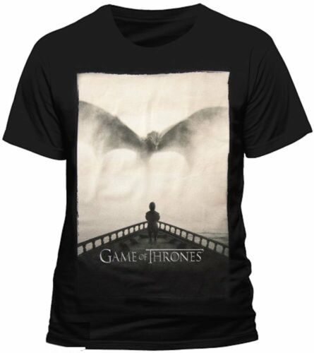 Official Mens T Shirt Game Of Thrones Tyrion Lannister Dragon Silhouette