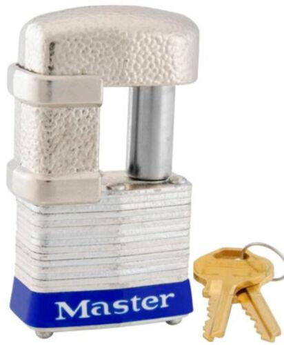 lot of 12 Lock Set by Master 37KA Keyed Alike Shrouded Laminated Padlocks New
