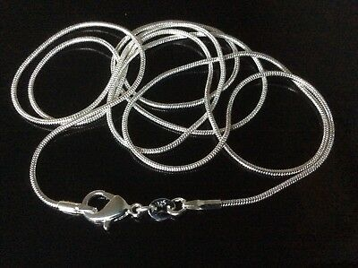 "100% Wahr 925 Silver Snake Chain ???? New ???? 24"" 26"" 28"" 30"" ???? Extra Long ???? Free Gift Bag Offensichtlicher Effekt"