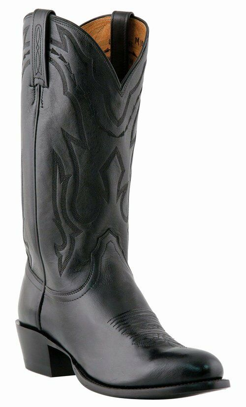 Mens Lucchese Calf Western R Toe Leather Sole M1020R Boot  FREE SHIPPING