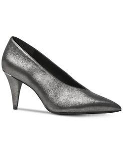 c9e15ef3afa9 Michael Kors Metallic Suede Women s Shoes Lizzie Mid Pumps Size 8 M ...