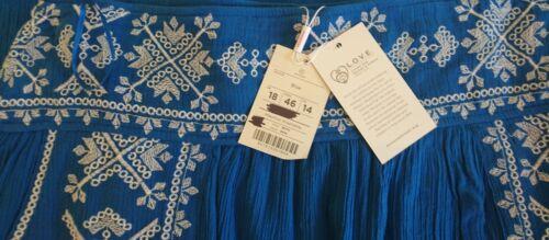 Blue 18 Monsoon Embroidered Uk Skirt Esme Bnwt w4wqpxZntX