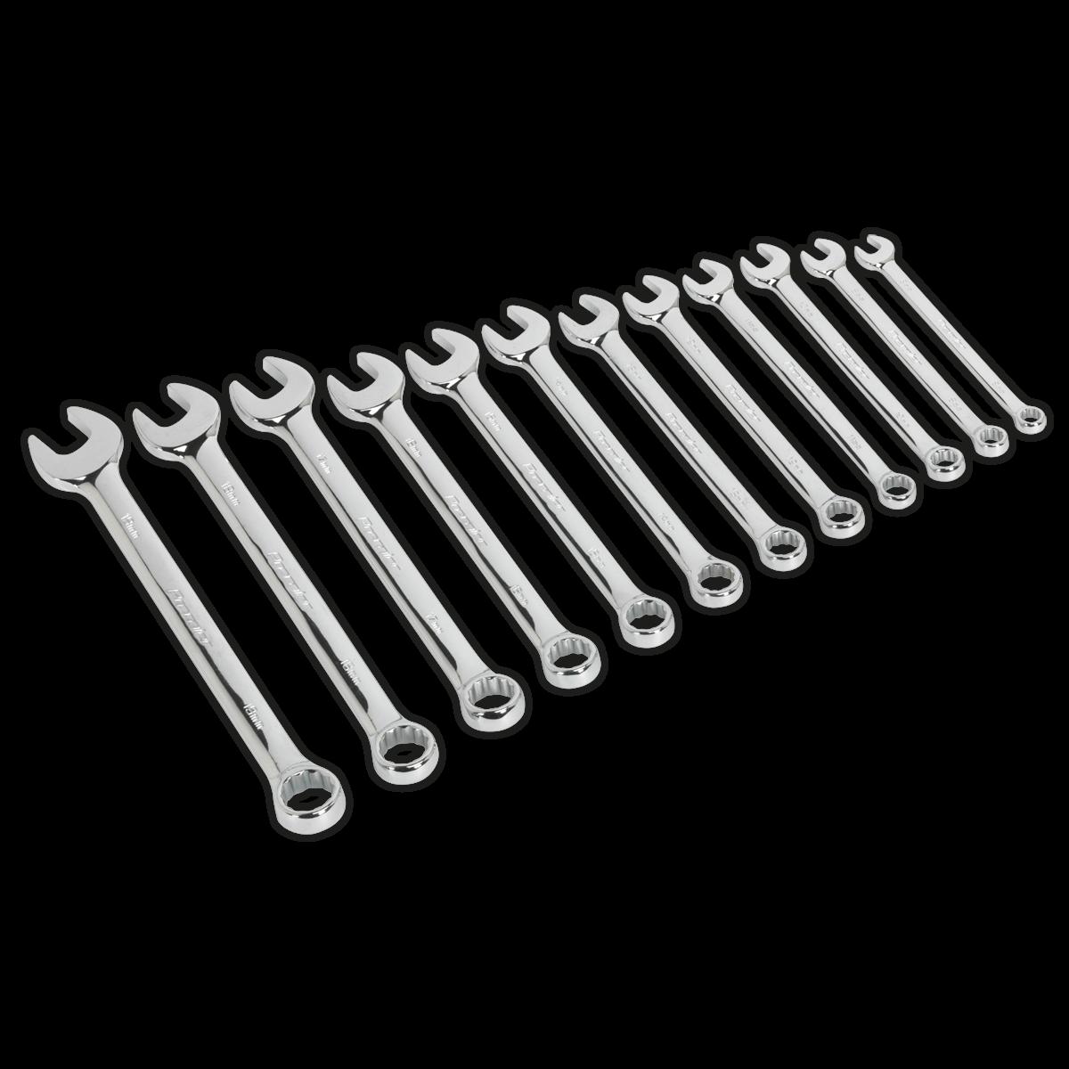 AK63012 Sealey Combination Spanner Set 12pc Metric