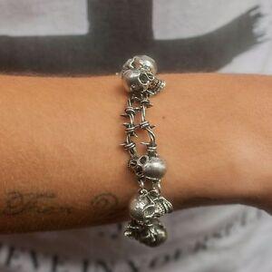 GENUINE-Alchemy-Gothic-Bracelet-No-Man-039-s-Land-Men-039-s-Skulls-Fashion