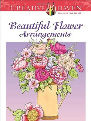 Beautiful Flower Arrangement Adult Colouring Book Creative Floral Relaxing