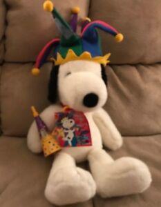 Snoopy Jester Macy S 2000 Plush Doll 25 Peanuts Stuffed Animal Toy