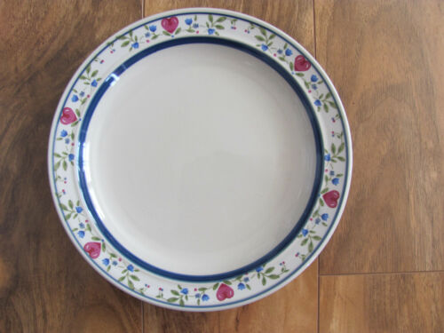 s Salad Plate Tienshan Stoneware Country Morning -Up to 12 Avail Red Hearts