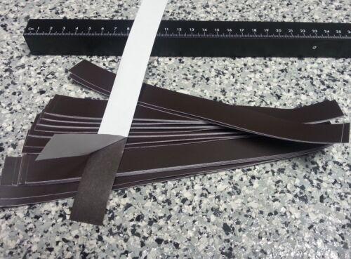 roh selbstklebend 20mm x 200mm x 0,5mm Magnet Etikett 10 Stück Magnetfolie
