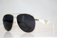 PRADA Immaculate Mens Designer Brown Aviator Sunglasses SPR 53Q ZVN-1C0 11036