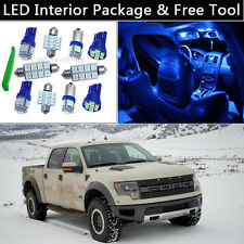 7PCS Blue LED Interior Lights Package kit Fit 2010-2014 Ford Raptor or F-150 J1